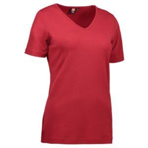 Interlock T-Shirt (V-hals) – Kvinde model – ID 506